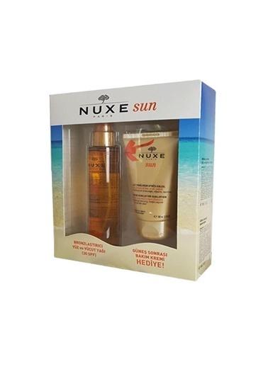Nuxe Bronzlaştırıcı Yüz ve Vücut Yağı Spf30 150ml + Güneş Sonrası Bakım Kremi 100ml-Nuxe